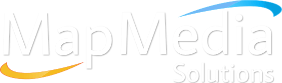 Map Media Solutions logo hvit
