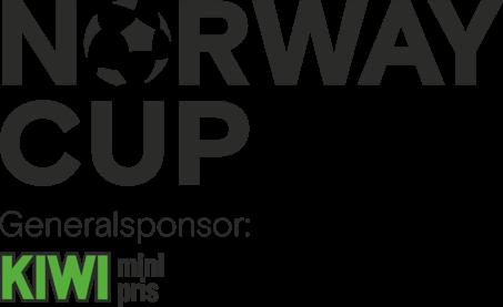 Norway Cup logo med kiwi hovedsponsor